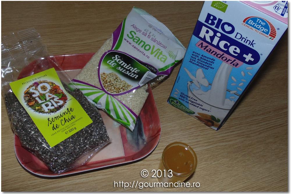 Milkshake cu seminţe de chia şi susan
